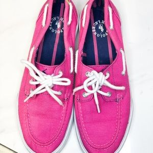 Pink size 8 1/2 polo Ralph Lauren tennis shoes.